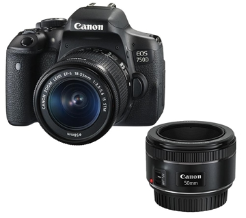 מצלמה רפלקסית + עדשה CANON