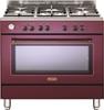 תנור משולב כיריים מפואר אדום DELONGHI