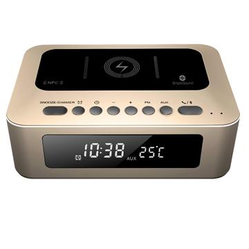 שעון מעורר משולב רמקול BT וטעינה אלחוטית Simply Sound