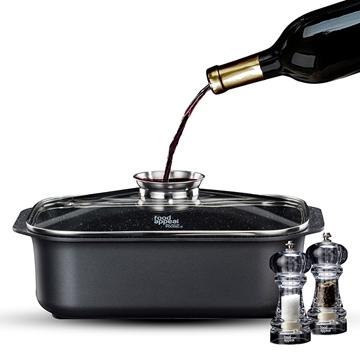 מתנה לרוכשים תנור בנוי DELONGHI רוסטר + זוג מטחנות אקריליות מבית Food appeal