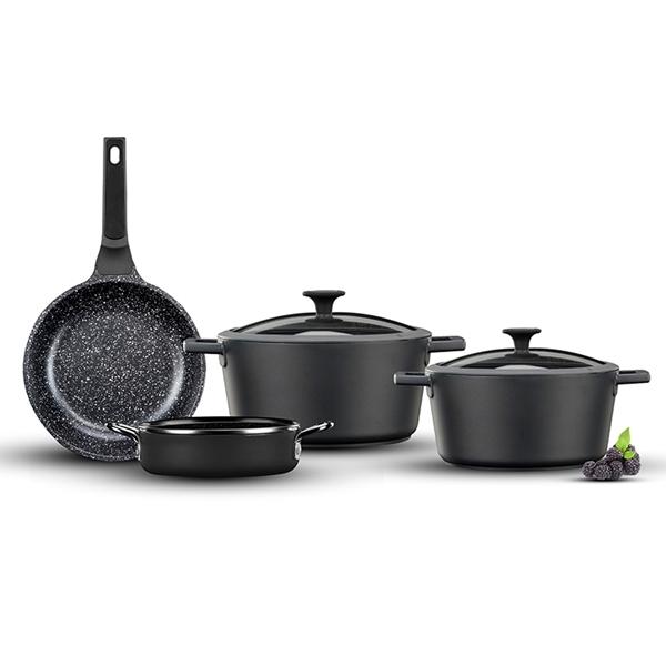 מתנה לרוכשים תנור משולב רחב DELONGHI מערכת סירים 6 חלקים מבית Food appeal